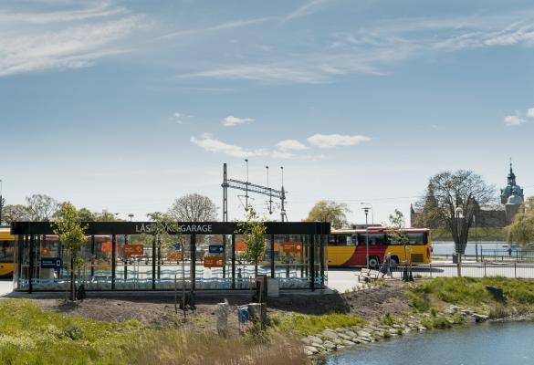 Photo of bicycle garage in Kalmar